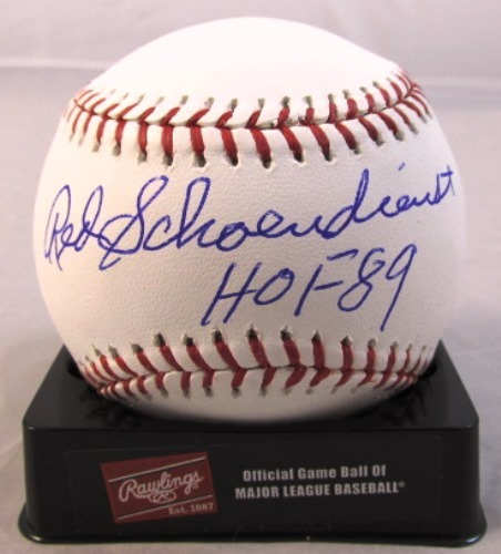 "Photo of Red Schoendienst Autographed ""HOF 89"" Baseball"