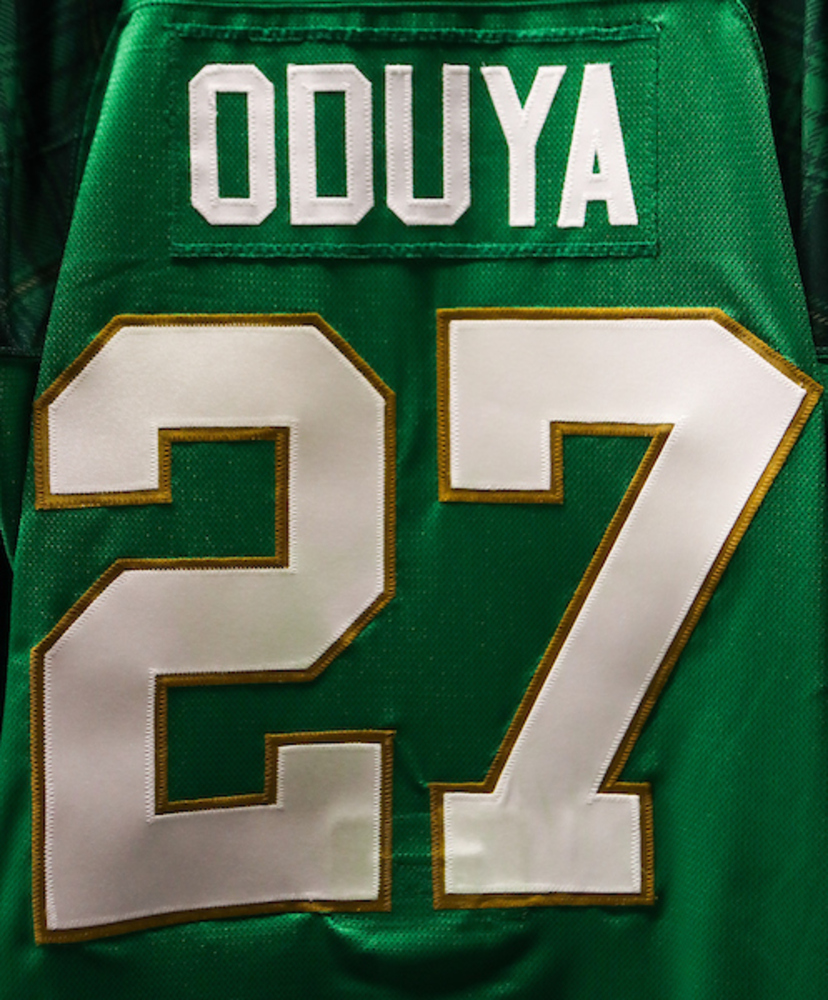 #27 - Johnny Oduya Autographed Authentic St. Patrick's Day Jersey