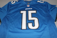 LIONS - GOLDEN TATE SIGNED LIONS REPLICA JERSEY - SIZE L