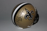 HOF - SAINTS MORTEN ANDERSON SIGNED SAINTS PROLINE HELMET