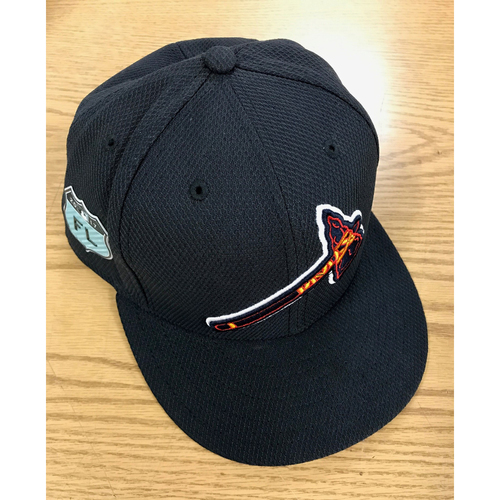 Nick Markakis Game-Used 2017 Spring Training Cap - Worn at SunTrust Park March 31, 2017