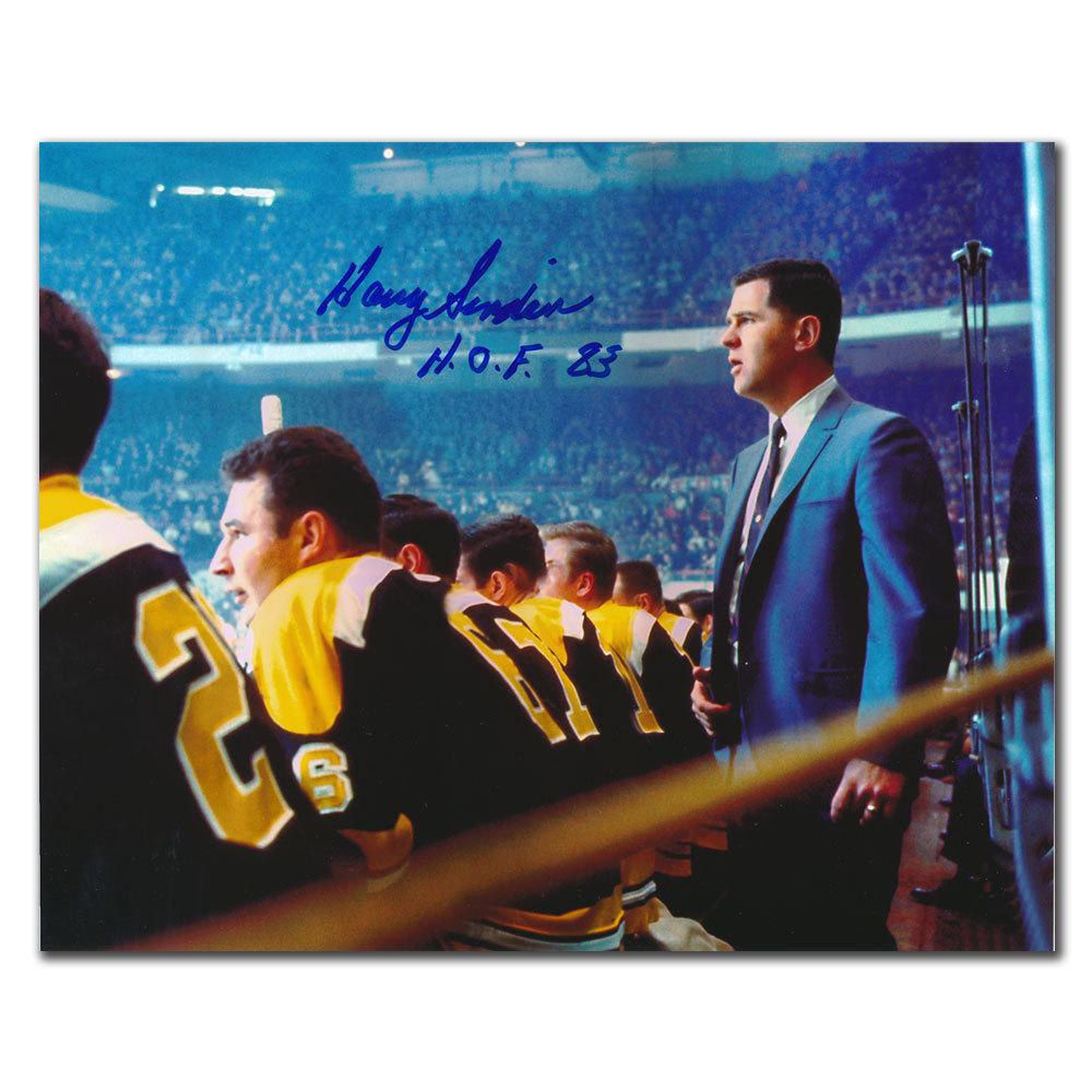 Harry Sinden Boston Bruins HOF Behind the Bench Autographed 8x10