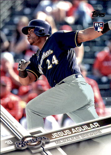 Photo of 2017 Topps #503 Jesus Aguilar Rookie Card
