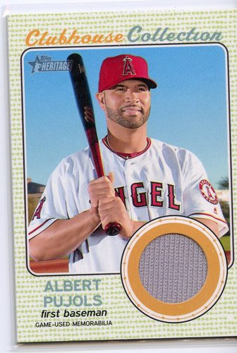 Photo of 2017 Topps Heritage Clubhouse Collection Relics #CCRAP Albert Pujols