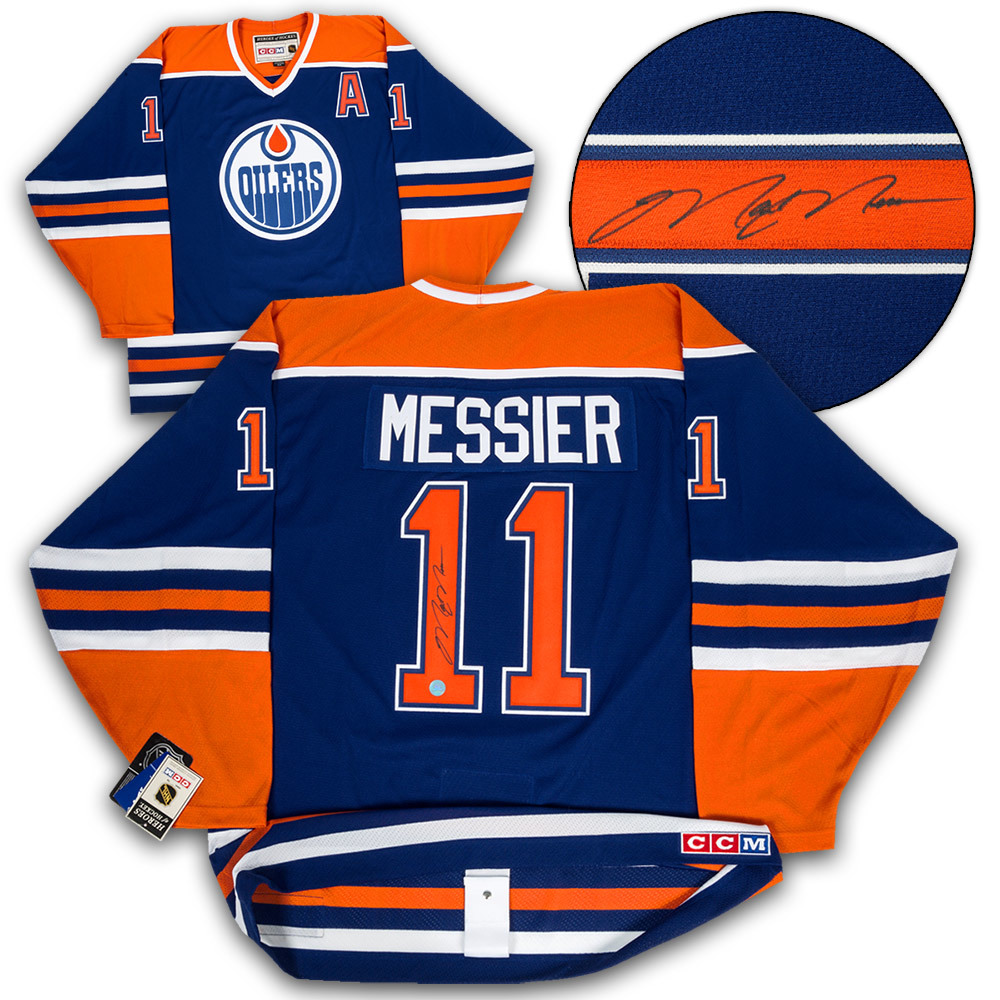 Mark Messier Edmonton Oilers Autographed CCM Authentic Vintage Hockey Jersey