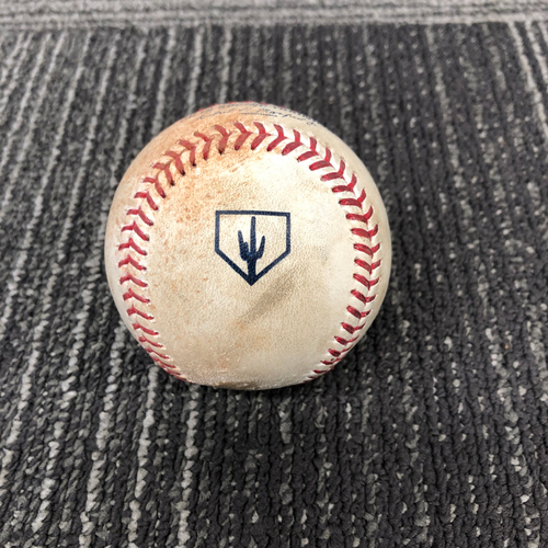 Photo of San Francisco Giants - 2019 Game Used Spring Training Baseball - 2/25/19 vs CWS - Dylan Covey to Evan Longoria - Single