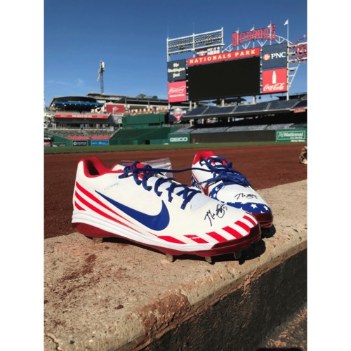 Photo of Max Scherzer Autographed Pair of Cleats