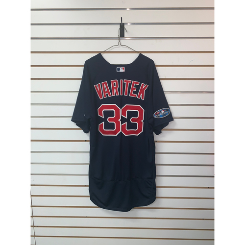 Photo of Jason Varitek Team-Issued 2018 Postseason Road Alternate Jersey