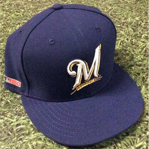 Photo of Manny Pina 03/28/19 Game-Used Opening Day Cap
