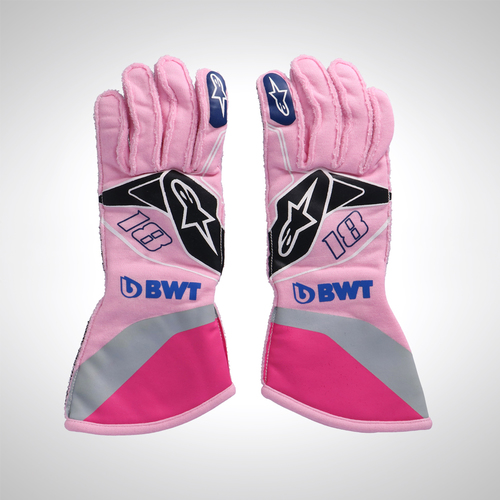 Photo of Lance Stroll 2019 Unworn Race Gloves - SportPesa Racing Point F1 Team