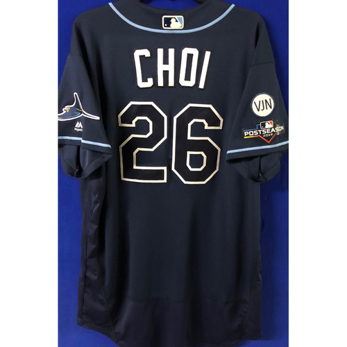 Photo of Game Used Postseason Jersey (WC/ALDS): Ji-Man Choi - October 2 (OAK) & October 4, 10 (HOU)