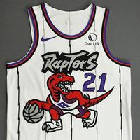 Matt Thomas - Toronto Raptors - Game-Worn Classic Edition 1995-96 Home Jersey - Dressed, Did Not Play - 2019-20 Season