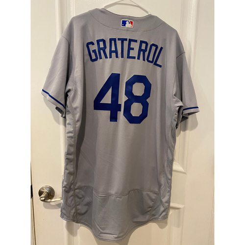 Photo of Brusdar Graterol Authentic Game-Used Jersey from 8/16/20 Game vs LAA - Size  48