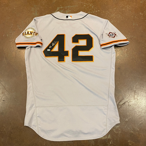 Photo of 2020 Jackie Robinson Day Jersey - Team Issued & Autographed - #12 Alex Dickerson - Size 48