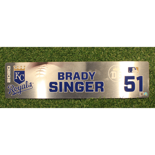 Photo of Game-Used Locker Tag: Brady Singer #51 (DET @ KC 9/24/20)