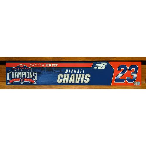 Photo of Michael Chavis #23 Team Issued Locker Tag