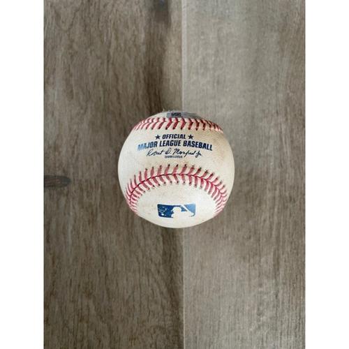 9/9/20 Game-Used Baseball, Dodgers vs. D-backs: A.J. Pollock Singled Off of Junior Guerra