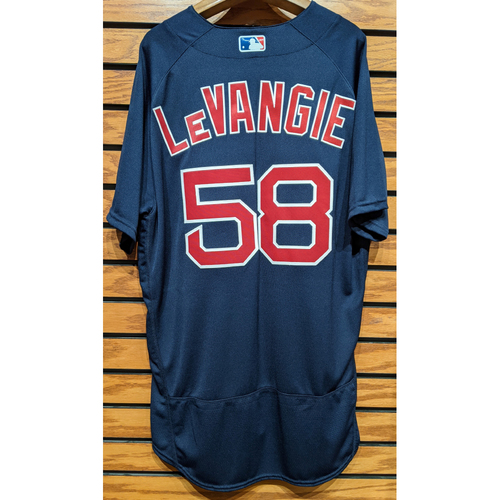 Photo of Coach Dana LeVangie #58 Navy Road Alternate Team Issued Jersey