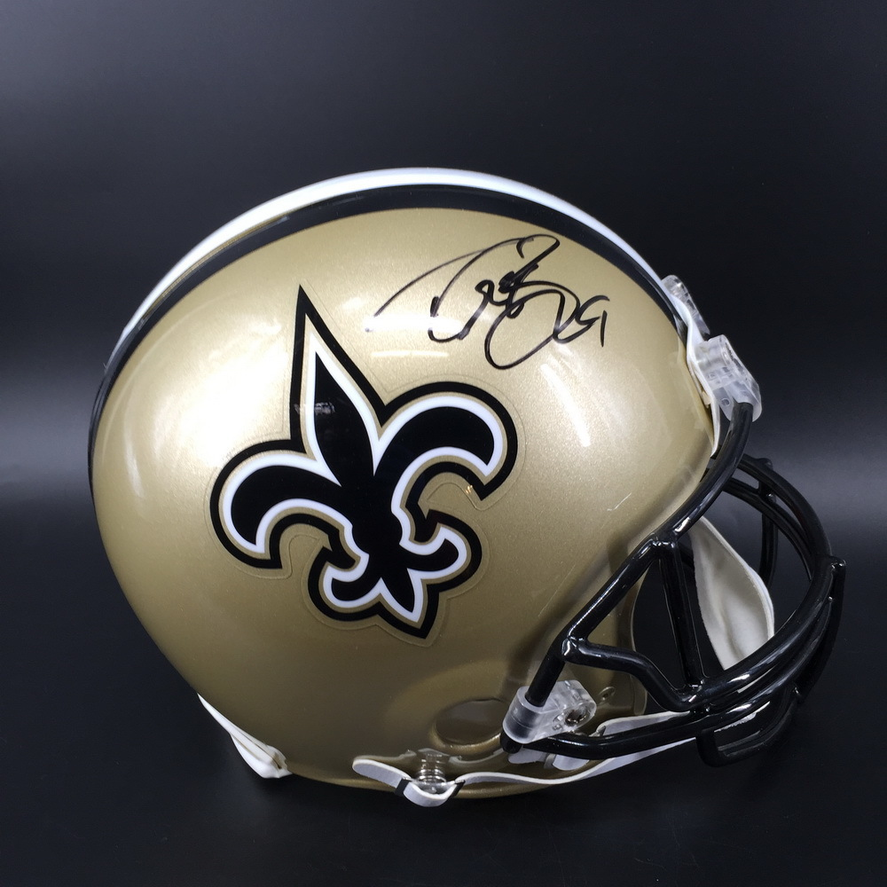 NFL - Saints Drew Brees Signed Proline Helmet