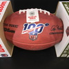 NFL - Ravens Ronnie Stanley Signed Authentic Football with 100 Seasons Logo