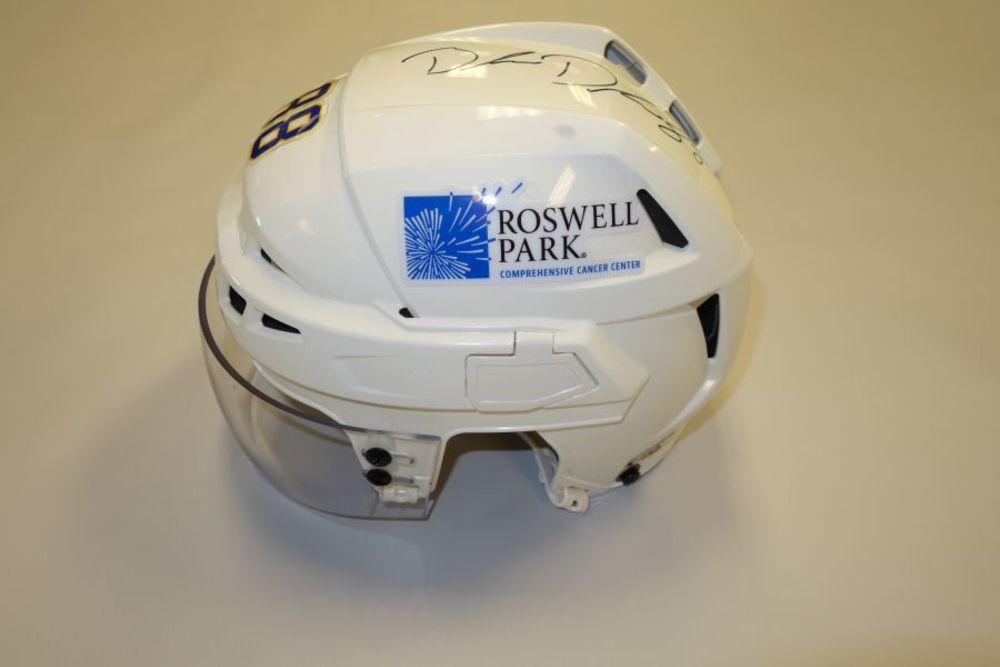 Brandon Davidson 2020-21 Autographed Game-Used Helmet