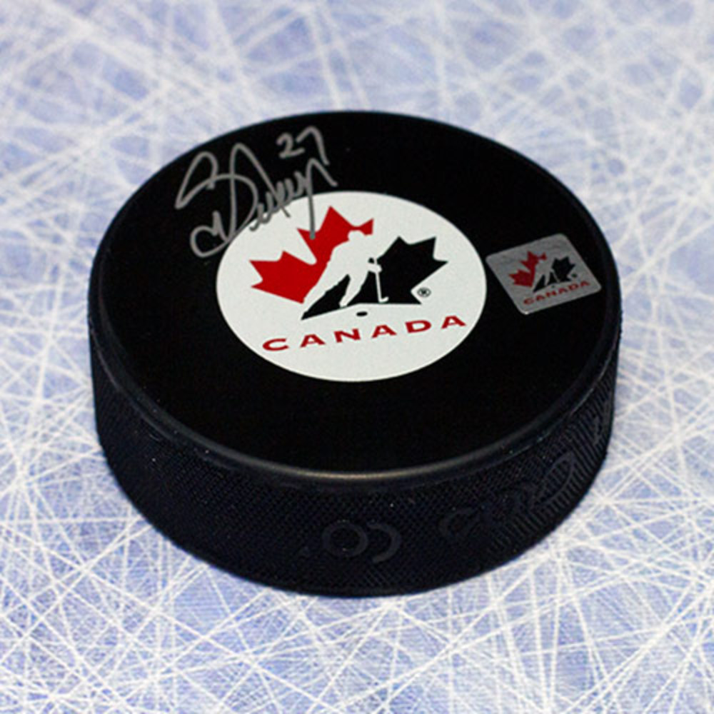 Scott Niedermayer Team Canada Autographed Olympic Hockey Puck