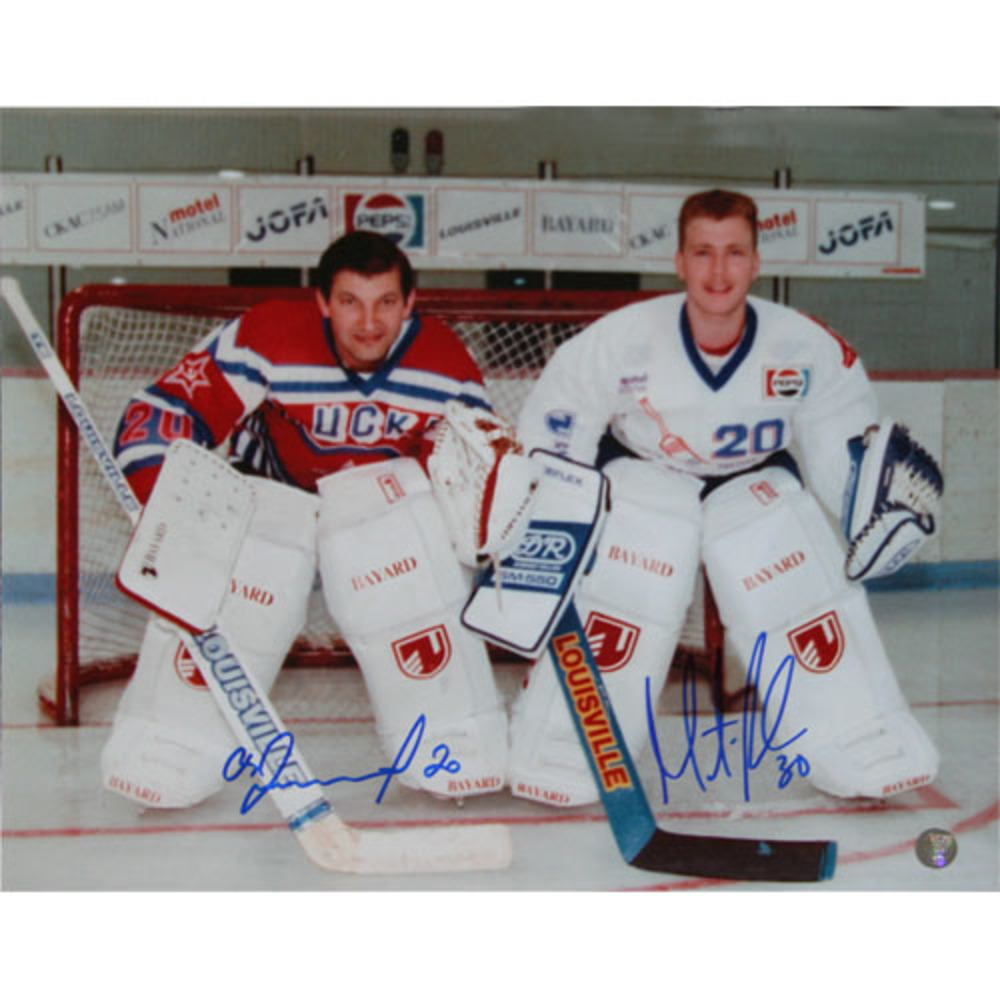 Martin Brodeur & Vladislav Tretiak Autographed 11X14 Photo
