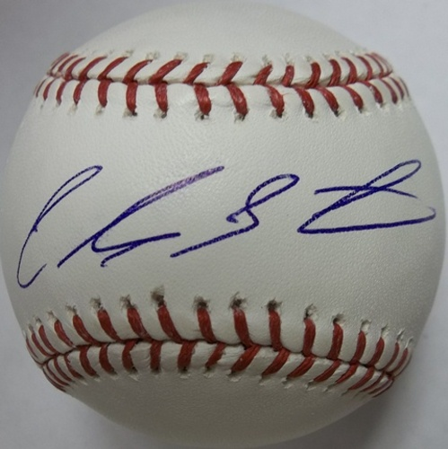 Photo of Carlos Santana Autographed Baseball