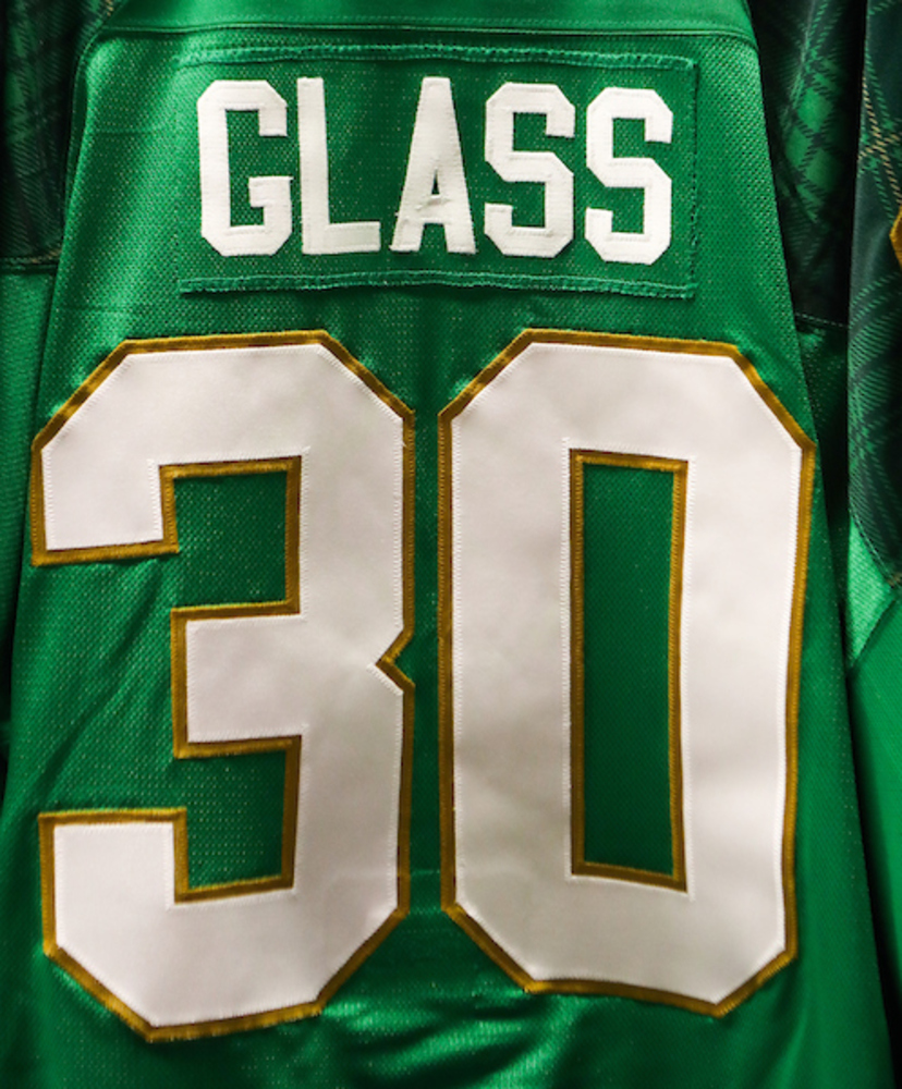 #30 - Jeff Glass Autographed Authentic St. Patrick's Day Jersey