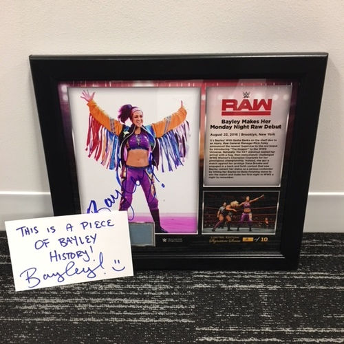Photo of Bayley SIGNED 15 x 17 Framed Plaque w/ Ring Canvas