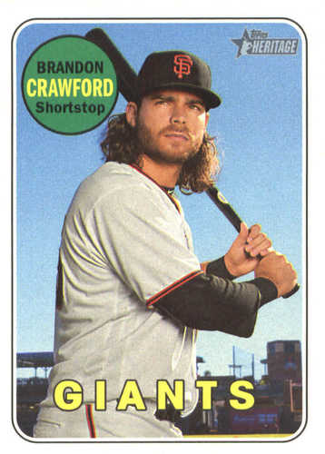 Photo of 2018 Topps Heritage #51 Brandon Crawford