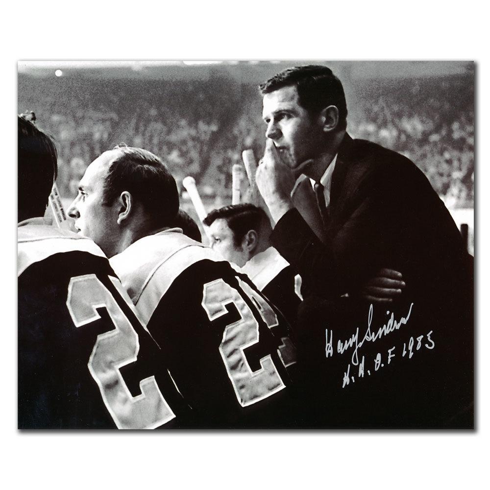 Harry Sinden Boston Bruins HOF Autographed 8x10