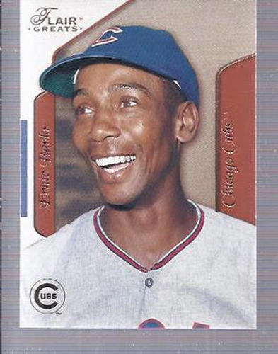 Photo of 2003 Flair Greats #14 Ernie Banks Hall of Fame Class of 1977