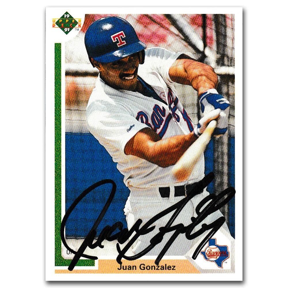 Juan Gonzalez Autographed 1991 Upper Deck Baseball Card