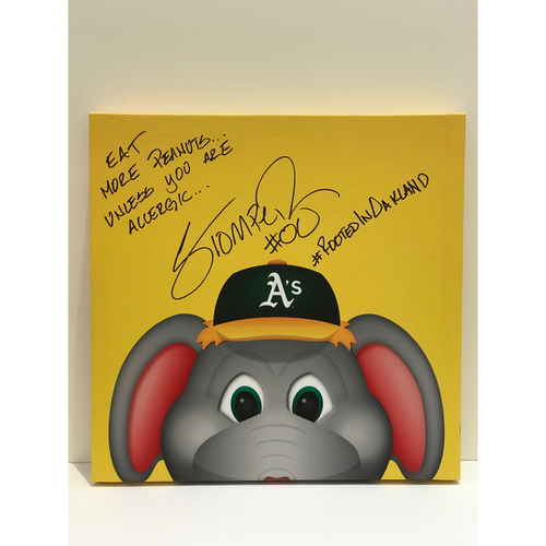 Photo of Autographed Stomper Canvas Print - Athletics