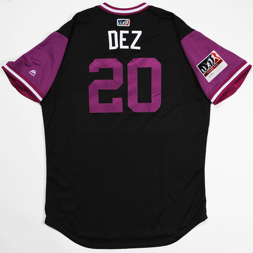 "Photo of Ian ""Dez"" Desmond Colorado Rockies Game-Used 2018 Players' Weekend Jersey"