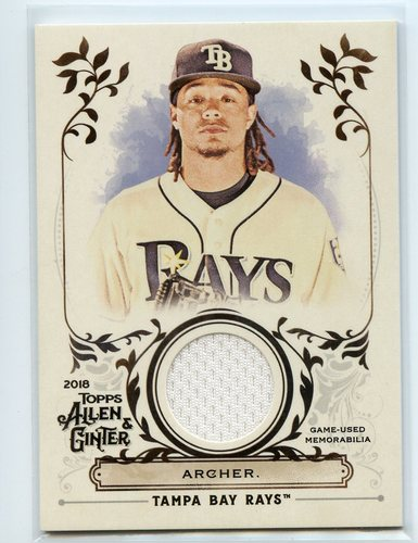 Photo of 2018 Topps Allen and Ginter Relics #FSRACA Chris Archer A