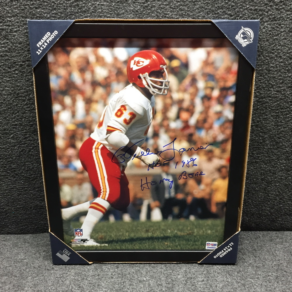 HOF - Chiefs Willie Lanier signed 11x14 framed picture