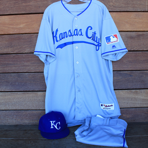 Photo of Game-Used 1969 Throwback Jersey, Pants and Cap: Mike Jirschele (Jersey Size 50 - KC @ WSH  - 7/6/19)