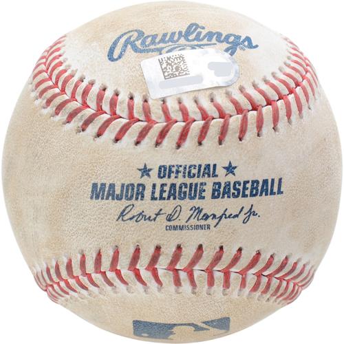New York Yankees Game-Used Baseball: Pitcher: Adam Ottavino, Batter: Robbie Grossman, Strikeout (Top 9) - 9/1/19 vs. OAK