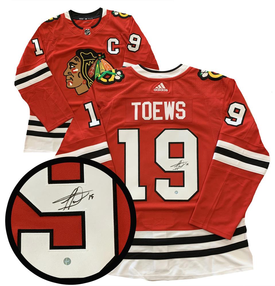 Jonathan Toews Signed Jersey Blackhawks Red Pro Adidas 2019-2020