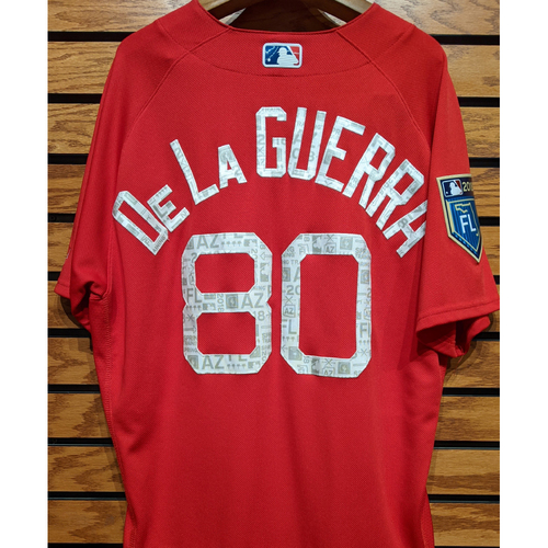 Photo of 2018 Spring Training Chad De La Guerra #80 Team Issue Red Jersey