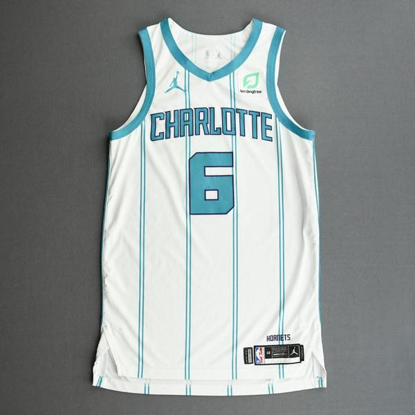 Image of Jalen McDaniels - Charlotte Hornets - Kia NBA Tip-Off 2020 - Game-Worn Association Edition Jersey