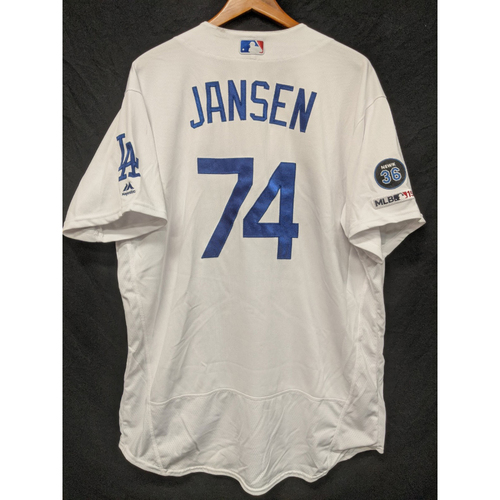 Photo of Kenley Jansen Game-Used Home Jersey, Last Home Game of 2019