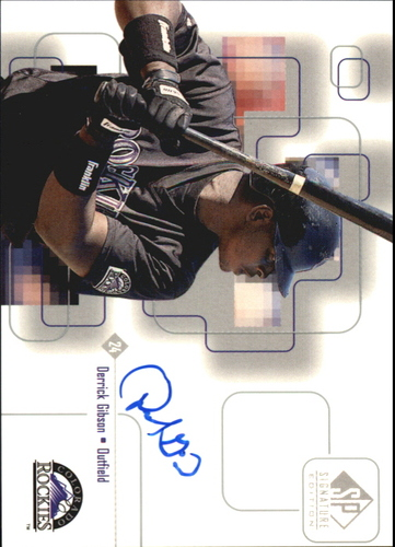 Photo of 1999 SP Signature Autographs #DG Derrick Gibson