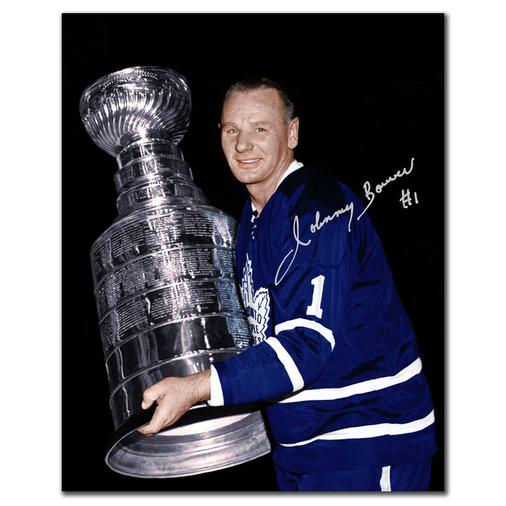 Johnny Bower Toronto Maple Leafs STANLEY CUP Autographed 8x10