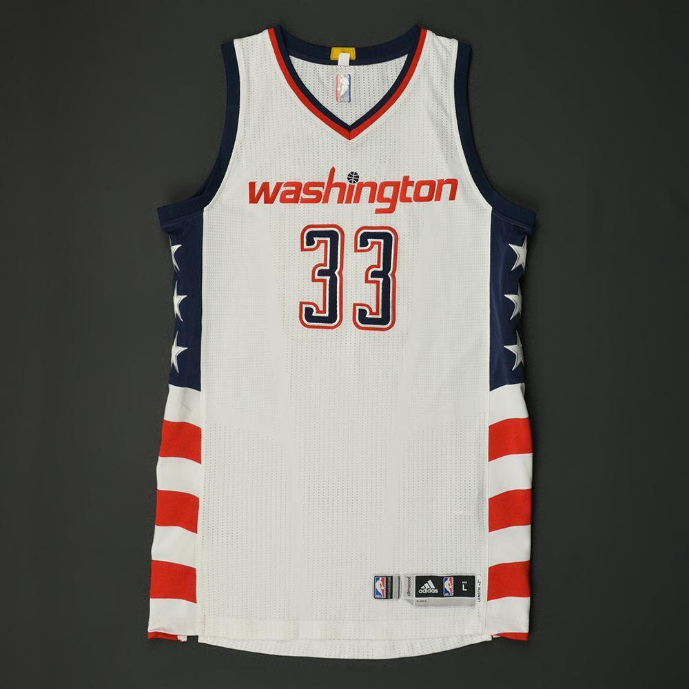 Trey Burke - Washington Wizards - Game-Worn White Alternate Jersey - 2016-17 0299d3940