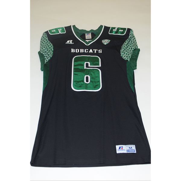 Photo of # 6 - Official OHIO BOBCATS Game Worn Football Jersey (2011) - SIZE MEDIUM