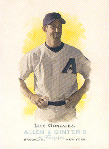 Photo of 2006 Topps Allen and Ginter #27 Luis Gonzalez