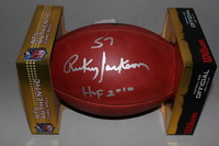HOF - SAINTS RICKEY JACKSON SIGNED AUTHENTIC FOOTBALL